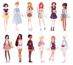 casual+princesses+++one+queen+by+muttonfudge.deviantart.com+on+@DeviantArt