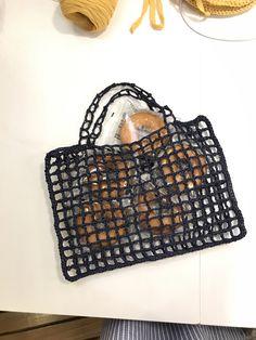 Diy Crochet Rug, Easy Crochet, Crochet Stitches, Crochet Market Bag, Textiles, Filets, Knitted Bags, Handmade Bags, Lana
