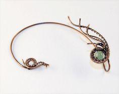Fairy ear cuffs * Statement ear cuff * Ear cuff no piercing * Bohemian jewelry * Fake ear cuff * Ear wrap * Trable jewelry * Hippie style by DesignsJR on Etsy https://www.etsy.com/listing/266990781/fairy-ear-cuffs-statement-ear-cuff-ear
