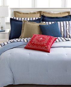 Tiny Stripes Comforter....Lauren Ralph Lauren Bedding, University Blue Oxford Collection - Lauren Ralph Lauren - Bed & Bath - Macy's