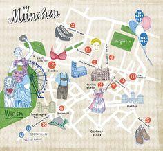 Kathrin Frank - Map of Munich