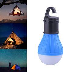 """Mini Portable Lantern Tent Light LED Bulb Emergency Lamp Waterproof Hanging Hook Flashlight For Camping 4 Colors"" Camping Tent Lights, Led Camping Lantern, Best Tents For Camping, Camping Items, Tent Camping, Outdoor Camping, Camping Products, Camping Outdoors, Camping Gear"