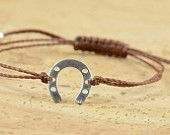 Sterling horseshoe bracelet, 12.50 - zzaval
