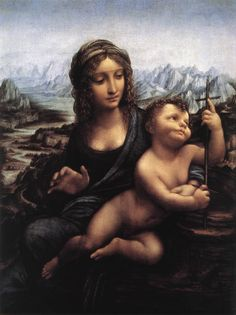 "Leonardo da Vinci ""Madonna of the Yarnwinder"""