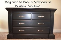 Furniture repainting and finishing tips.  Good to know....