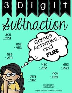 3 Digit Subtraction With and Without Regrouping - Including Games, Activities, & FUN!
