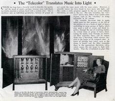 The Telecolor (1931) translates Music Into Light