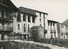 1960 provincia de girona El poble de Susqueda abans de quedar submergit sota les aigües del pantà de Susqueda
