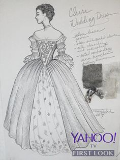 claire fraser wedding dress | Outlander' Wedding: All the Details on Mr. and Mrs. Fraser's Attire ...