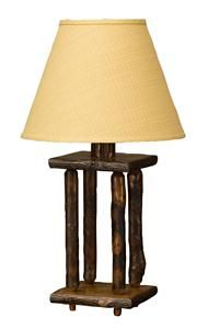 Amish Spindle Hickory Wood Lamp