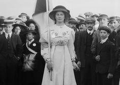 The Suffragette leader Charlotte Marsh, 18 June 1910 (detail)