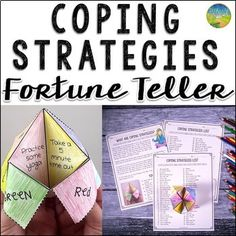 Use this paper fortune teller craft to teach and practice coping strategies for anxiety, anger, stress, depression, and other strong emotions. Kids and young adults will identify their top coping strategies and write them on the paper fortune teller to pr Anxiety Coping Skills, Social Anxiety, Anxiety Disorder Symptoms, Panic Disorder, List Of Skills, Life Skills, Understanding Anxiety, Explaining Anxiety, Respect