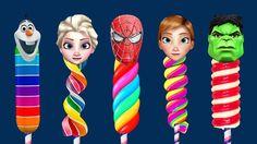 Finger Family Collection SuperHeroes - Spiderman Hulk Frozen Elsa Finger Family Nursery Rhymes Kids