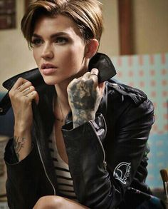 "Anastasia ""Tasha"" Stark (Ruby Rose)...althought a Lesbian, still a woman and still fit!!"