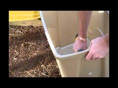 DIY Worm Compost Bin   A vermicomposting (worm composting) bin can be built with a couple of stackable totes, a small piece of window screen, and a drill.