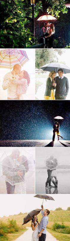 Romantic Rainy Day Engagement Photo Ideas — Praise Wedding