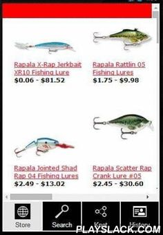 Rapala Store  Android App - playslack.com , The best way to find and buy your Rapala lure fom your phone or tablet (this APP may not works properly on all devices). You can also find games, knifes, pliers, apparels, tools and many more at the best price of the web. Many lures on SALE NOW!####################Category:Products on SaleX-RapClackin'ApparelToolsNetsBest Lure selection on SaleBagsCompany HistoryLure Knot for luresLure Finder####################This APP may not work will all…