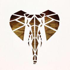 Canvas cutout Plus Elephant Quilt, Elephant Art, Elephant Stencil, Giraffe, Geometric Elephant, Geometric Art, Diy Canvas, Canvas Art, Cut Out Art