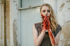 always hungry halloween inspired sfx make up editorial by kylie robyn and ellie gillard