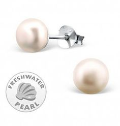 £12.95  Silver White Pearl Earrings