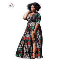 BRW Bazin Riche African Print Dashiki Dress