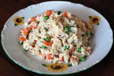 rizoto na čínsky spôsob Fried Rice, Fries, Ethnic Recipes, Food, Essen, Meals, Nasi Goreng, Yemek, Stir Fry Rice
