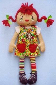 Made this Pippi Long Stockings for my littlest grandaughter...still think she's soooo cute! My grandaughter that is!!