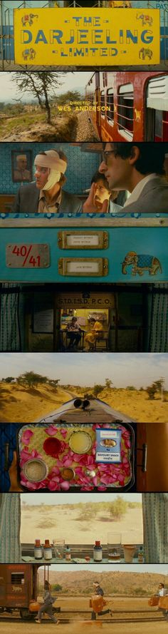 Darjeeling Limited(2007) Directed by Wes Anderson: Contemporary color scheme