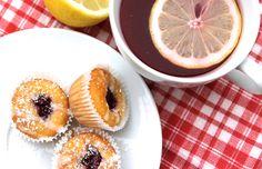 Kirsch-Zitrone Mini Muffins! Auf zum Rezept!