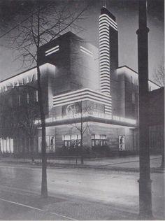 "germanpostwarmodern:  Cinema ""Titania-Palast"" (1926-27) in Berlin, Germany, bySchöffler, Schlönbach & Jacobi"