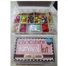 Diy gifts for friends survival kits back to school Ideas Food Gifts, Craft Gifts, Diy Cadeau, Candy Gifts, Little Gifts, Cute Gifts For Friends, Creative Gifts, Homemade Gifts, Teacher Gifts