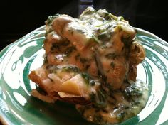 SourdoughNative: Baked Potatoes with Spinach Artichoke Sauce