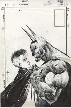 comicblah:  Detective Comics #655 cover by Sam Kieth