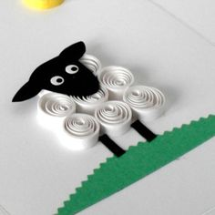 Quilled sheep happy birthday card