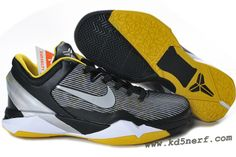 Nike Zoom Kobe 7 Shoes Black Tour Yellow