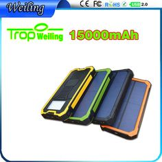 Tropweilnig portable solar charger 15000mah usb battery external charger for ipad /all phones power supply power pack ============================================================================================ Shenzhen Weiling Electronics Co., Ltd. Buyers please note : Don't bargain: if you want to spend $5 yuan to buy $100 goods, please find cheater ! donot say expensive: people have different, products same . Please don't ...