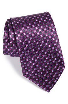 Men's Ermenegildo Zegna Grid Silk Tie