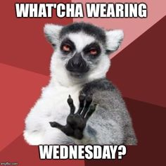 What h wearing Wednesday
