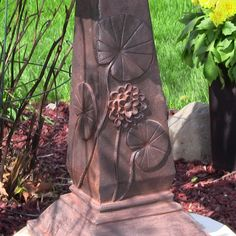 Sunnydaze Lily Leaf Two Tier Solar On Demand Fountain - Rust | Water Fountains