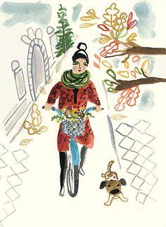 bicycle girl  ~  August Wren