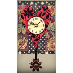 View all Duane Scherer clocks at http://www.sweetheartgallery.com/collections/duane-scherer-wall-clocks-contemporary-artisan-designer-wall-clocks