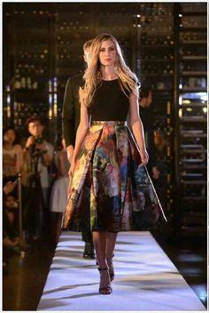 New Ted Baker London Black Eana Technicololour Bloom Skirt Dress sz 5 UK 16 Full Skirt Outfit, Skater Skirt Dress, Maxi Skirt Outfits, Chic Outfits, Fashion Outfits, Ted Baker Skirts, Ted Baker Dress, Stylish Dresses, Nice Dresses