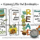 Charming Little Owl Bookmarks! FREE on TpT! Black and white and color.