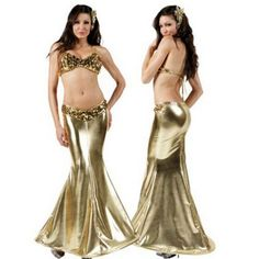 Sexy Golden Mermaid Costume for Women Adult Halloween Fancy Party Cosplay Dress