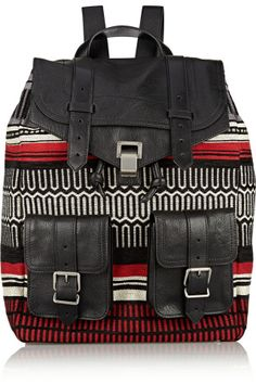 Proenza Schouler|PS1 jacquard and leather backpack