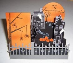 Side Step card Holiday Haunt by Dolly Watt - Cards and Paper Crafts at Splitcoaststampers
