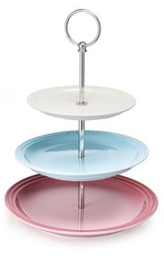 The Le Creuset Strawberry Tea Collection cake stand