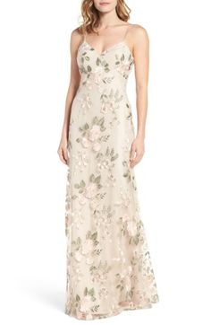 Free shipping and returns on Jenny Yoo Julianna Embroidered Gown at Nordstrom.com. Embroidered with pastel threads that shimmer with botanical charm, this fluid gown has a plunging back and flattering slender double straps.