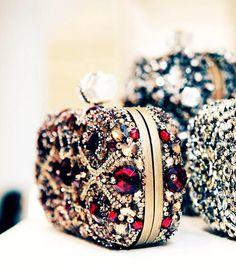 Glitter Stud Wallets for Fashion Girls with Swarovski Crystal Stud
