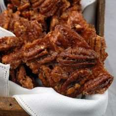 Cinnamon Pecan Brittle - Elana's Pantry  These are not too sweet, and totally addictive (I omitted the cinnamon and used a tsp of fleur de sel as the salt). Also super easy.